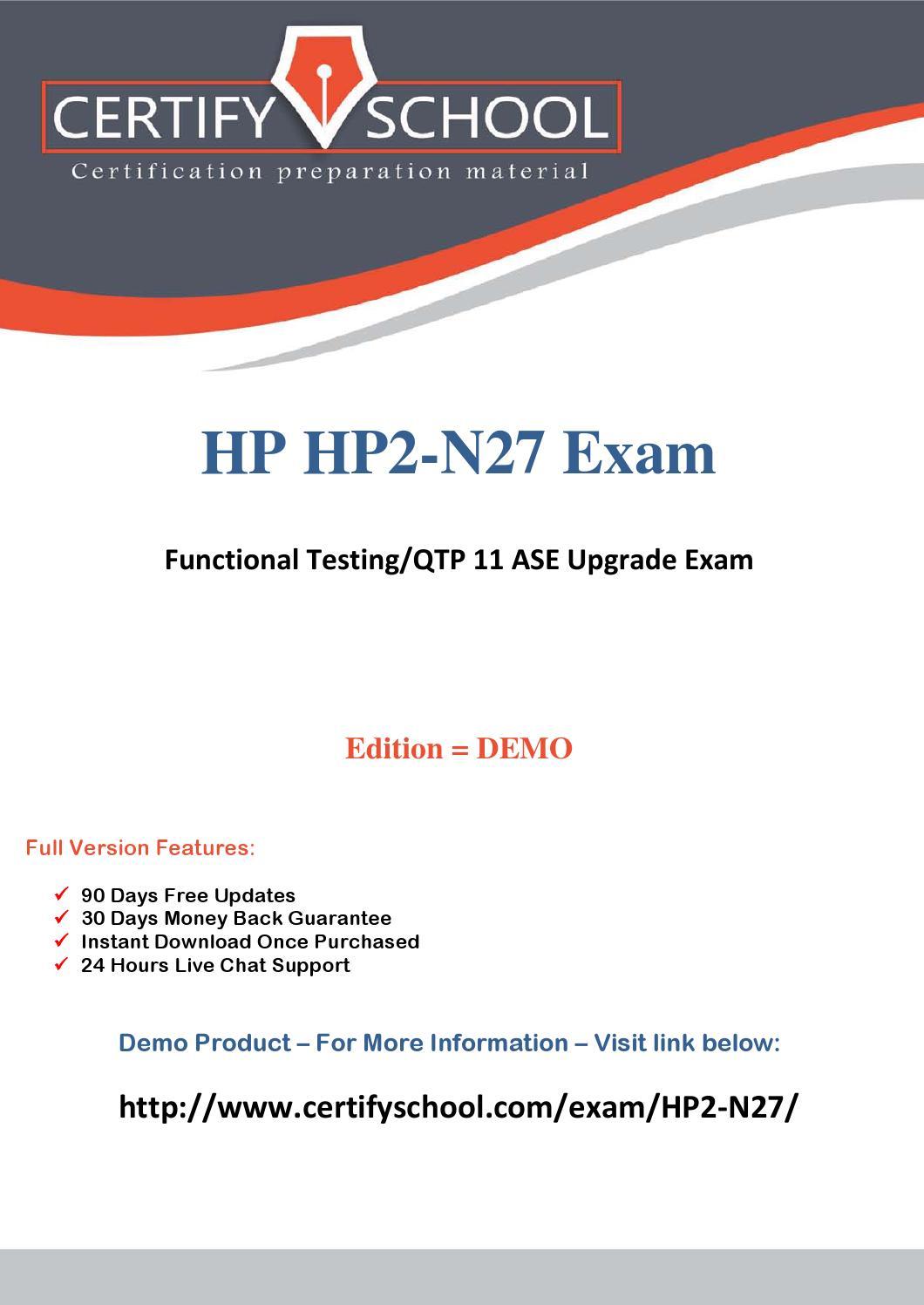Hp2 N27 Certifyschool Exam Actual Questions Pdf By Certifyschool