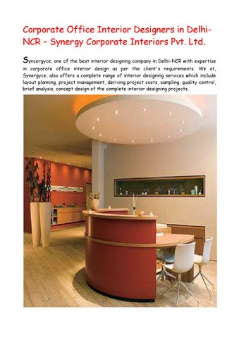 interior designers in delhi for office design by synergy corporate