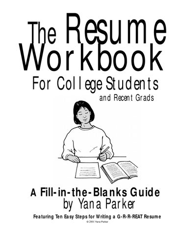 The resume workbook for college students