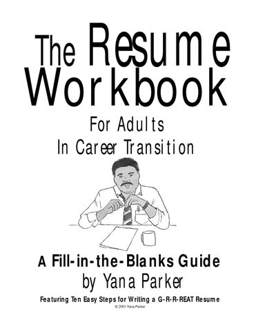 The resume workbook for adults in career transition