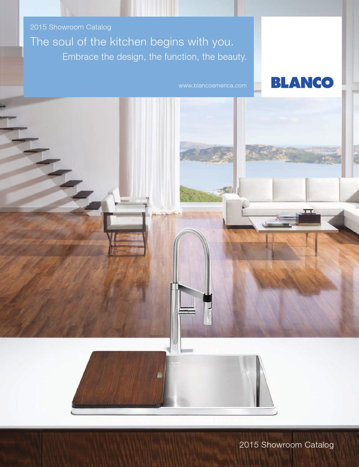 2015 blanco showroom catalog by blanco issuu for Blancoamerica com kitchen sinks