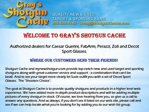 Olympic Shotgun Dealers by shotguncache - issuu