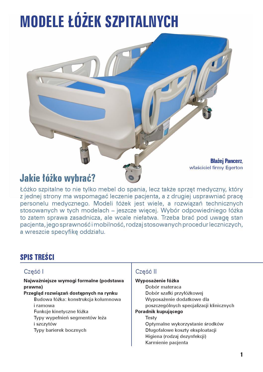 Modele łóżek Szpitalnych By Egerton Issuu