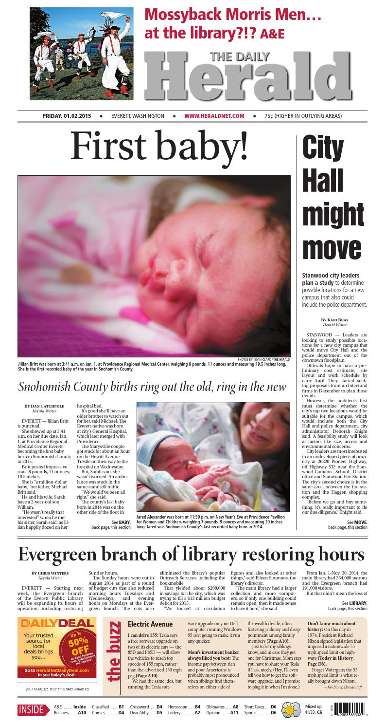 Everett Daily Herald, January 02, 2015 by Sound Publishing