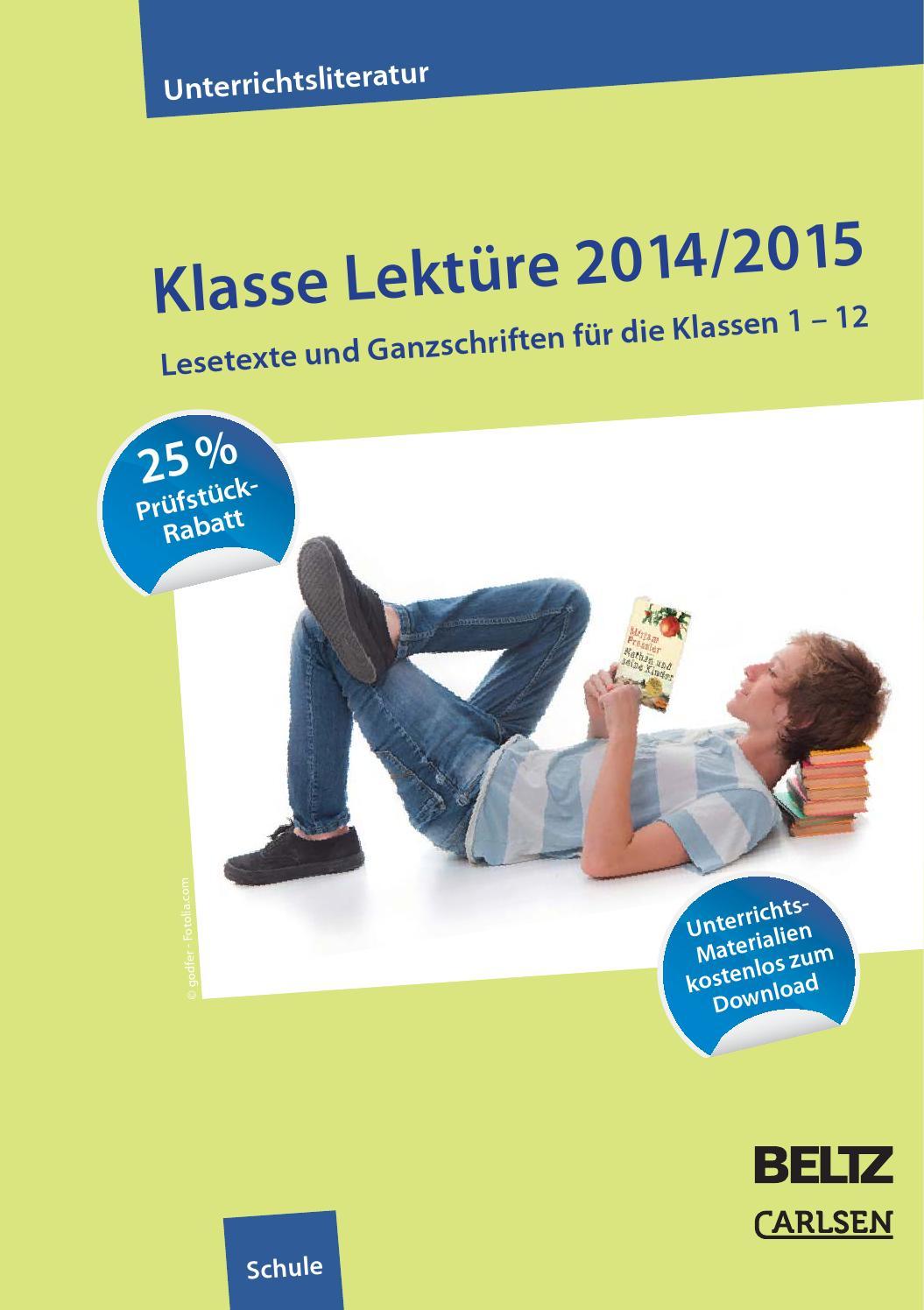 Klasse Lektüre 2014/2015 by Verlagsgruppe Beltz - issuu