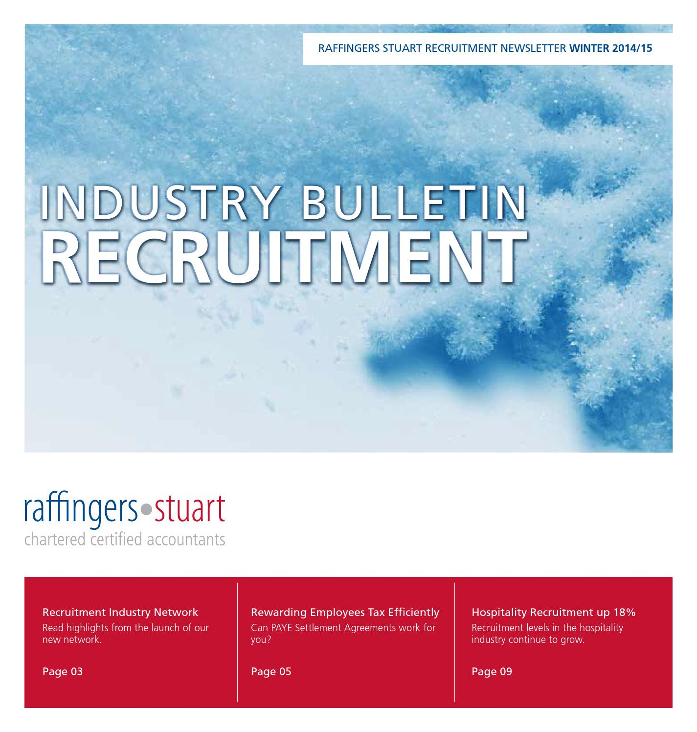 Recruitment Winter Newsletter 2014/15
