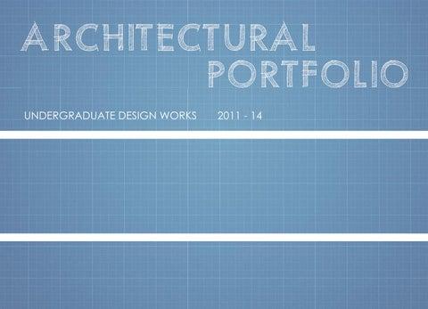 Undergraduate Architectural Portfolio - Abhishek Maniktala