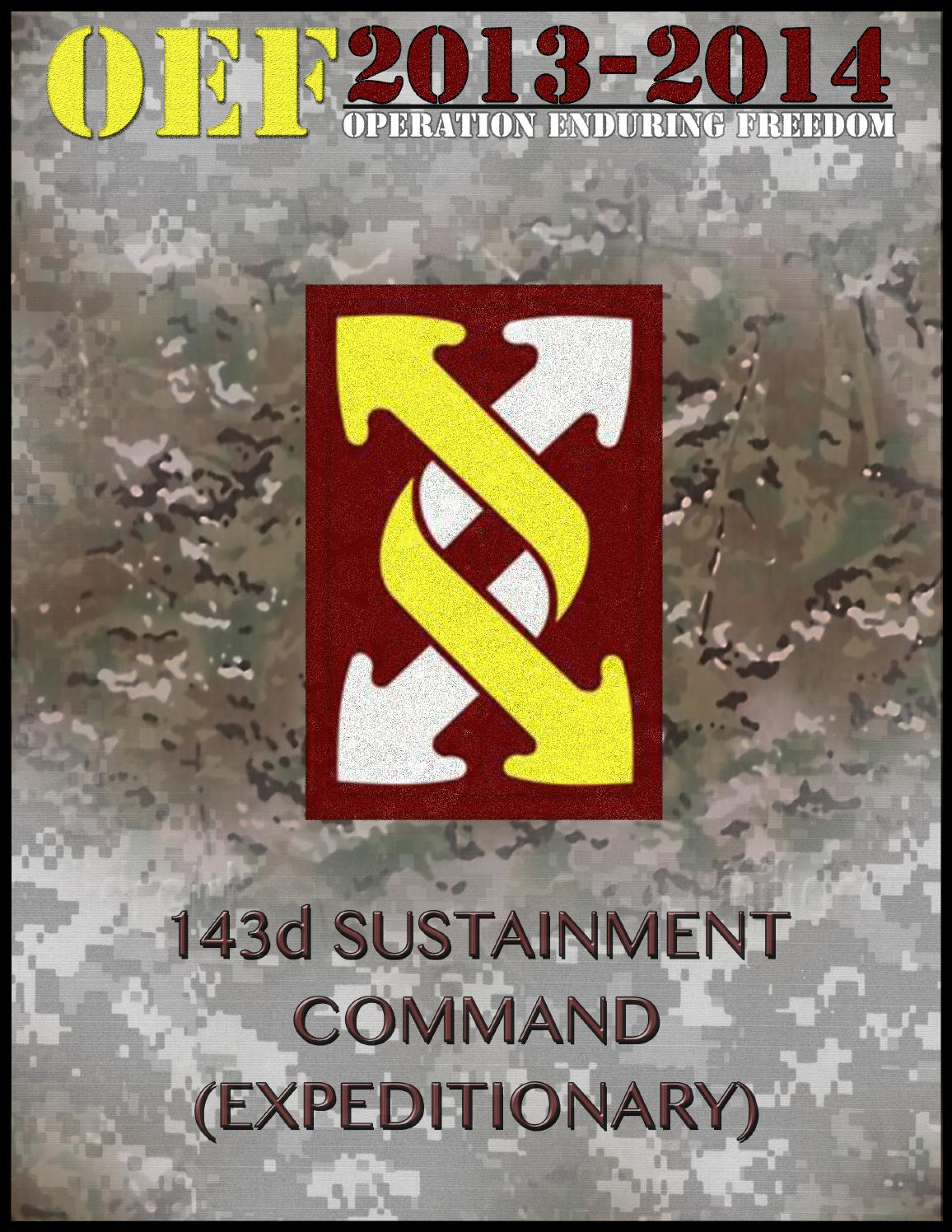 143d ESC Deployment Yearbook - Operation Enduring Freedom