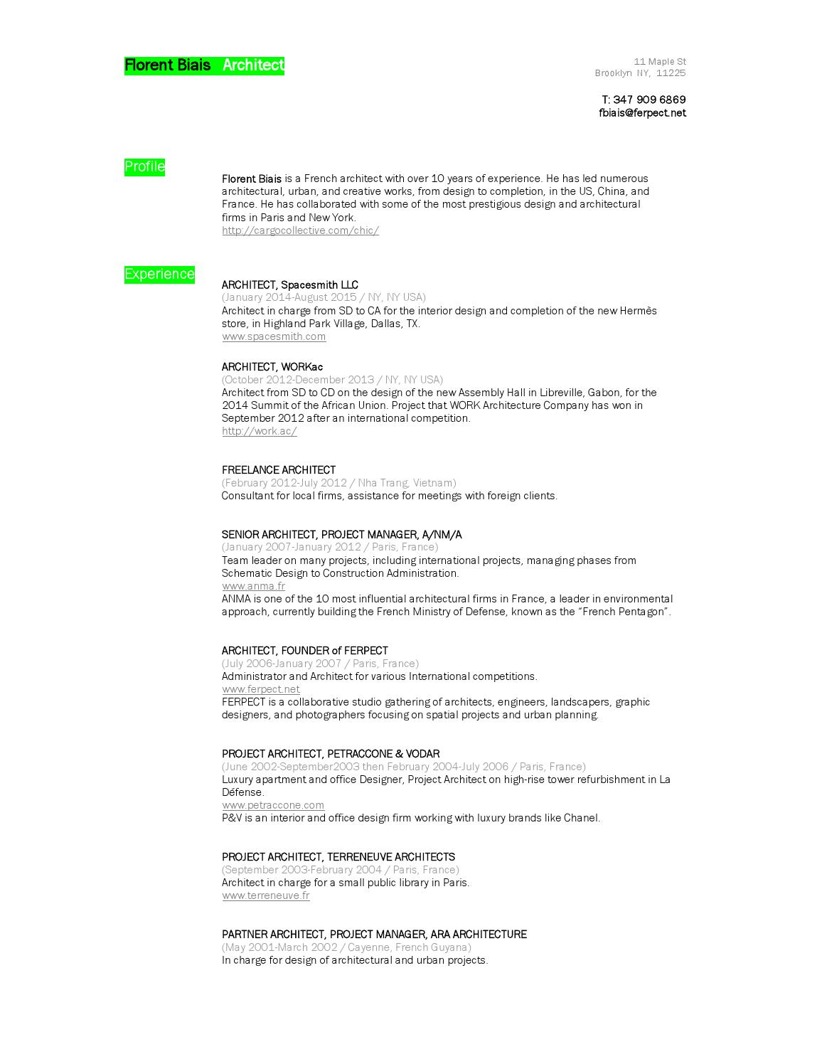 Florent Biais resume and worksamples by Florent B  - issuu