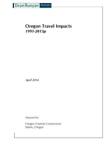 Oregon Travel Impacts by Mara Stine - issuu on