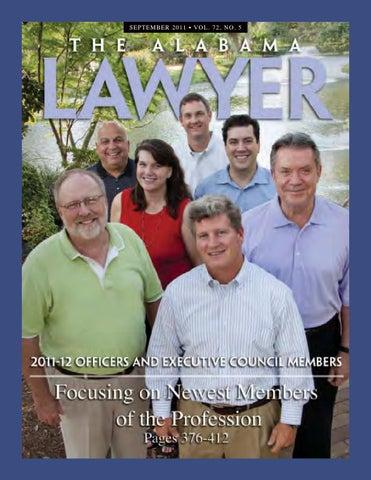 Al Lawyer Sept 2011 By Alabama State Bar Association Issuu