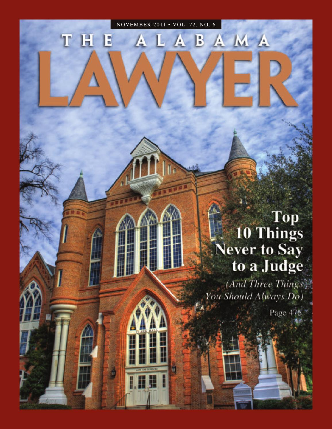 The Alabama Lawyer September 2014 By State Bar Association From Quot Http En650wikiorg Indexphp 415watchdogcircuit Al Nov 2011