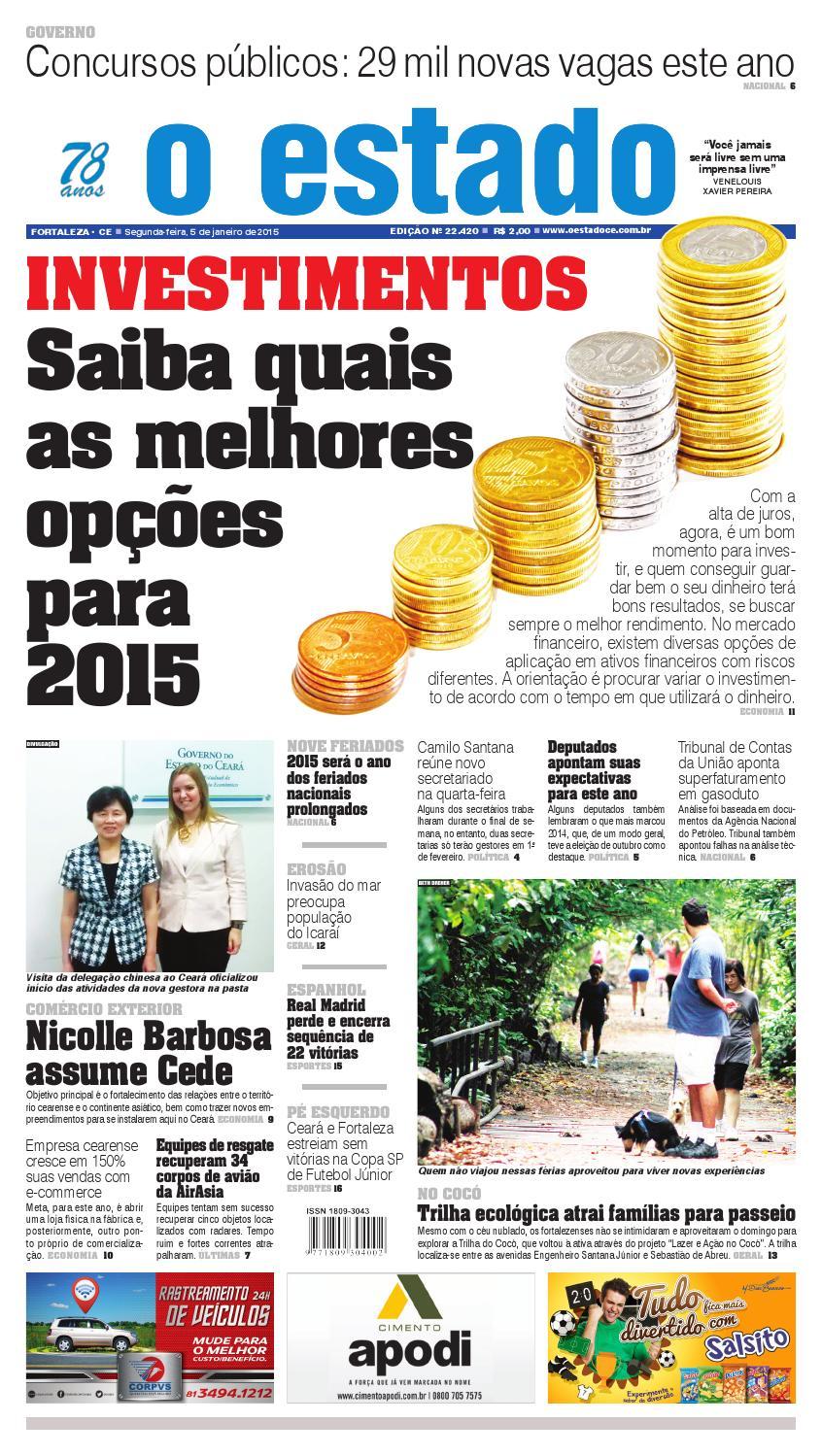 Edição 22420- 05 de janeiro de 2015 by Jornal O Estado (Ceará) - issuu 43f688e213