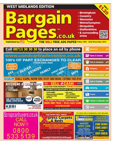 092e7562a7a1be Bargain Pages West Midlands 19th Dec 2014 by Loot - issuu