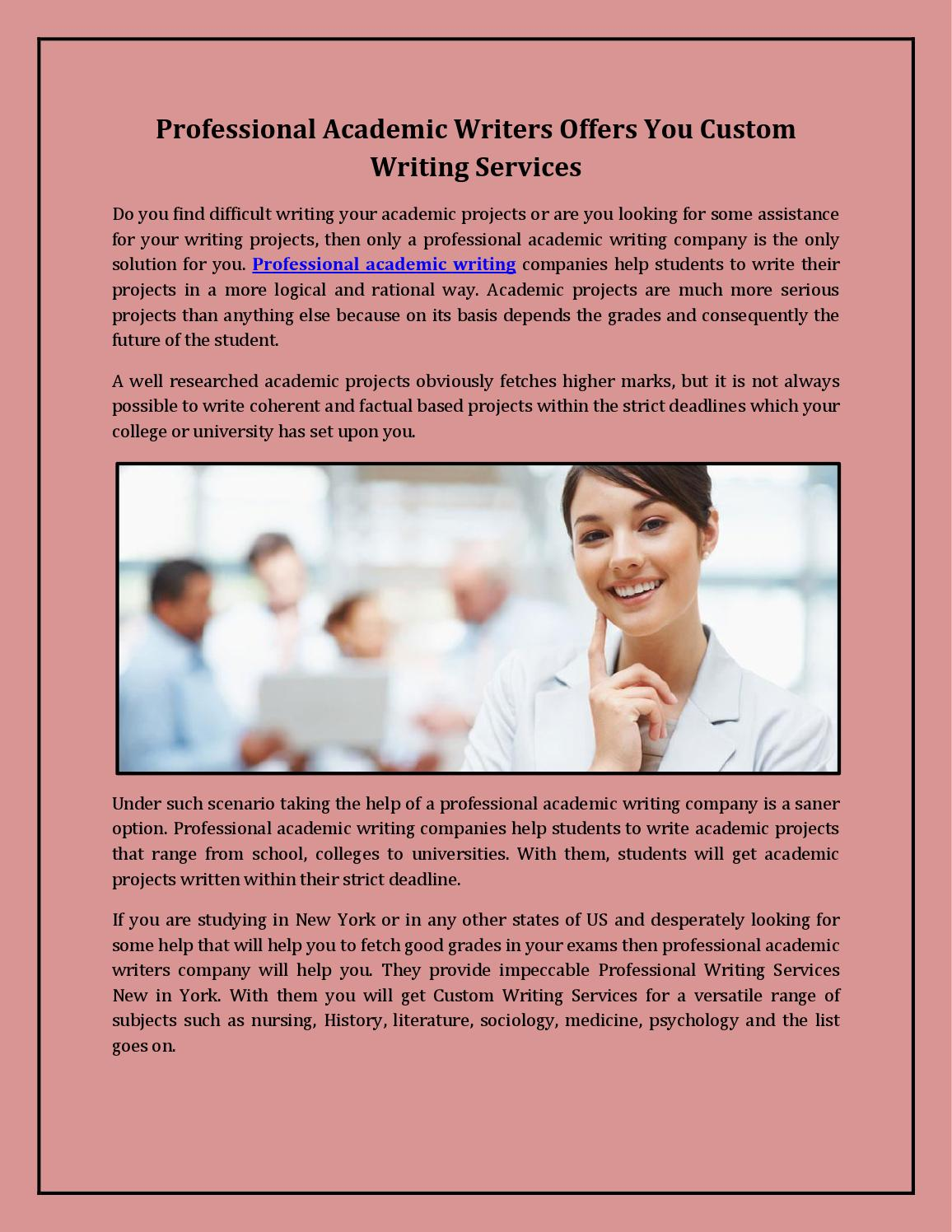 Professional writing services inc