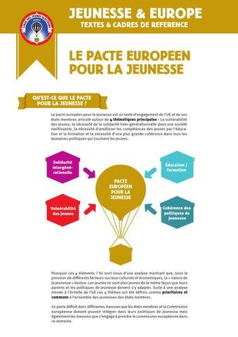 Jeunesse Et Europe Textes Cadres De Reference By Cnajep