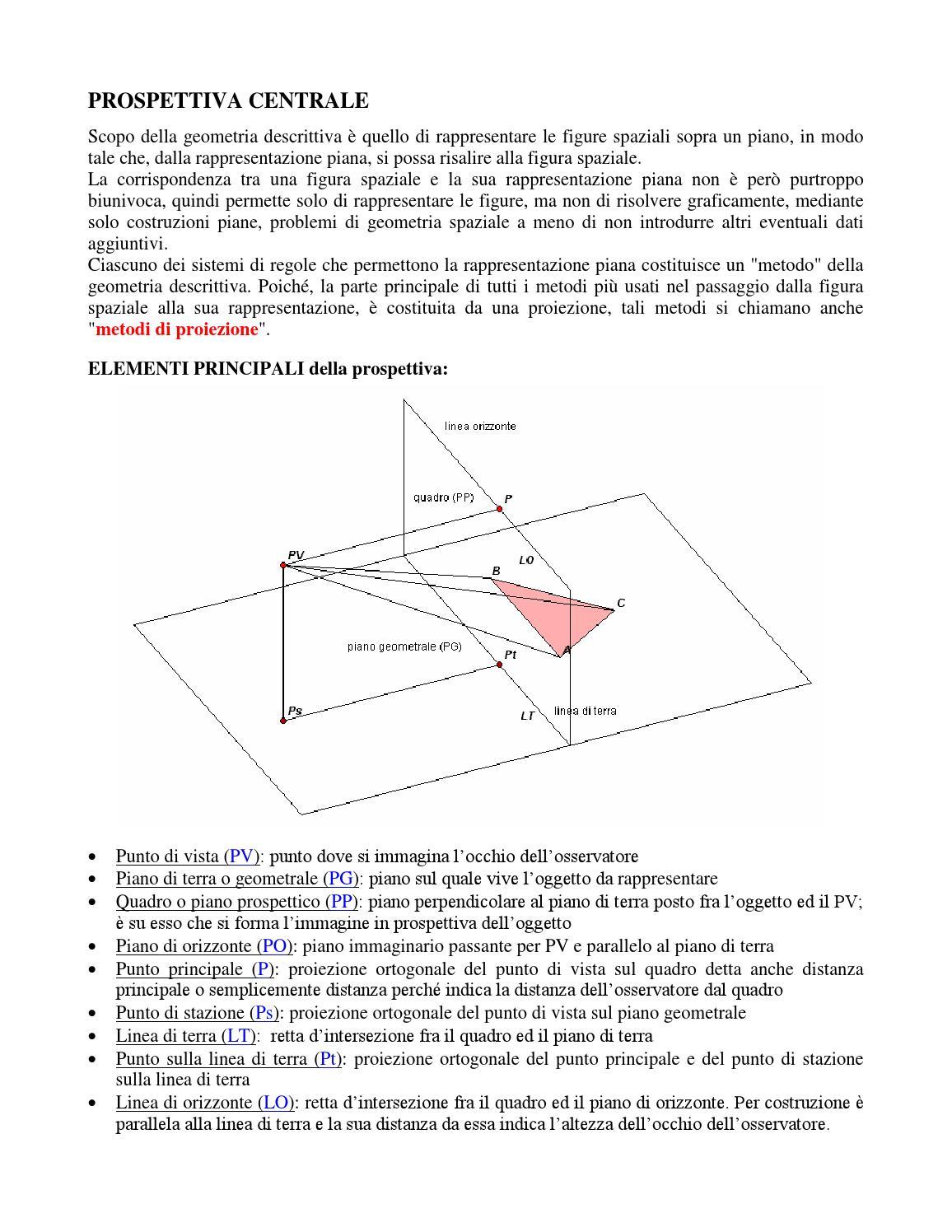 Prospettiva Centrale E Accidentale prospettiva by davide cara - issuu