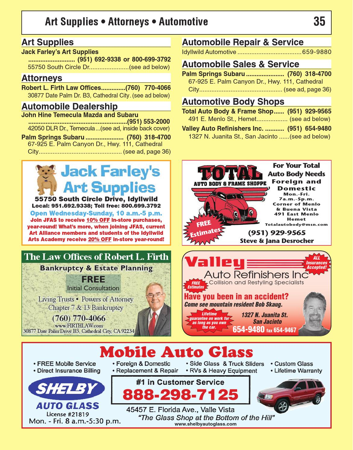 Idyllwild Phone Book 2015 by Idyllwild Town Crier - issuu
