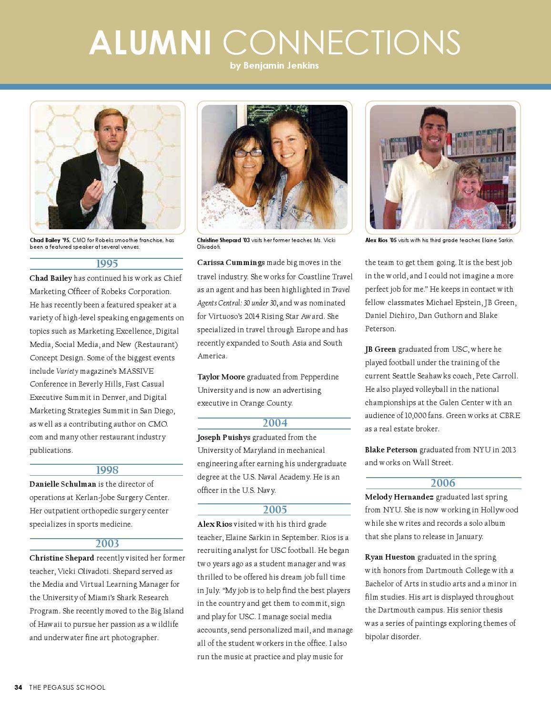 Pegasus Magazine - Winter 2014 by The Pegasus School - issuu