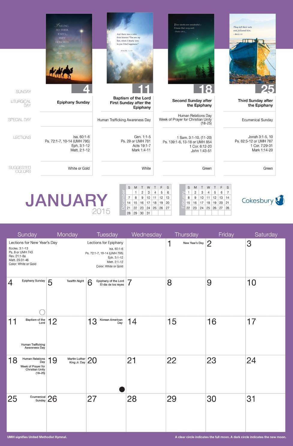 Word Alive Bulletin Calendar By United Methodist