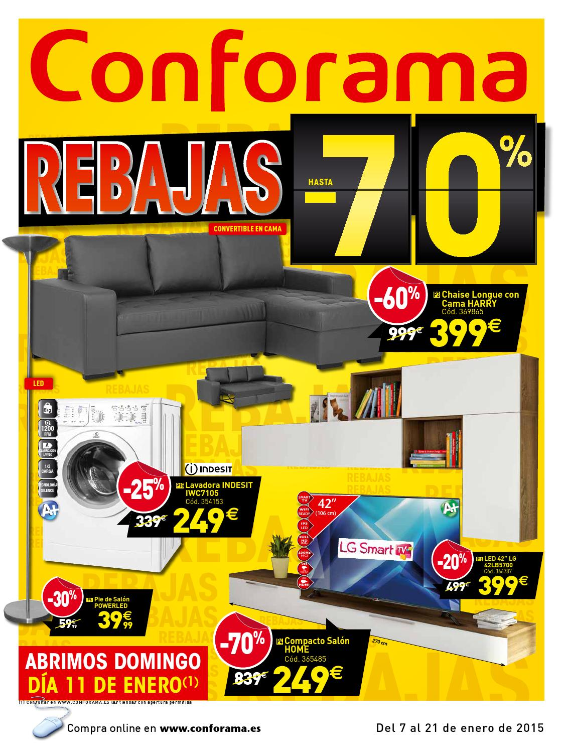 Catalogo conforama rebajas by misfolletos - Conforama sevilla catalogo ...