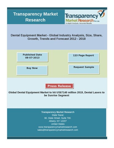 1e4d044544 Dental Equipment Market - Global Industry Analysis and Forecast 2012 - 2018
