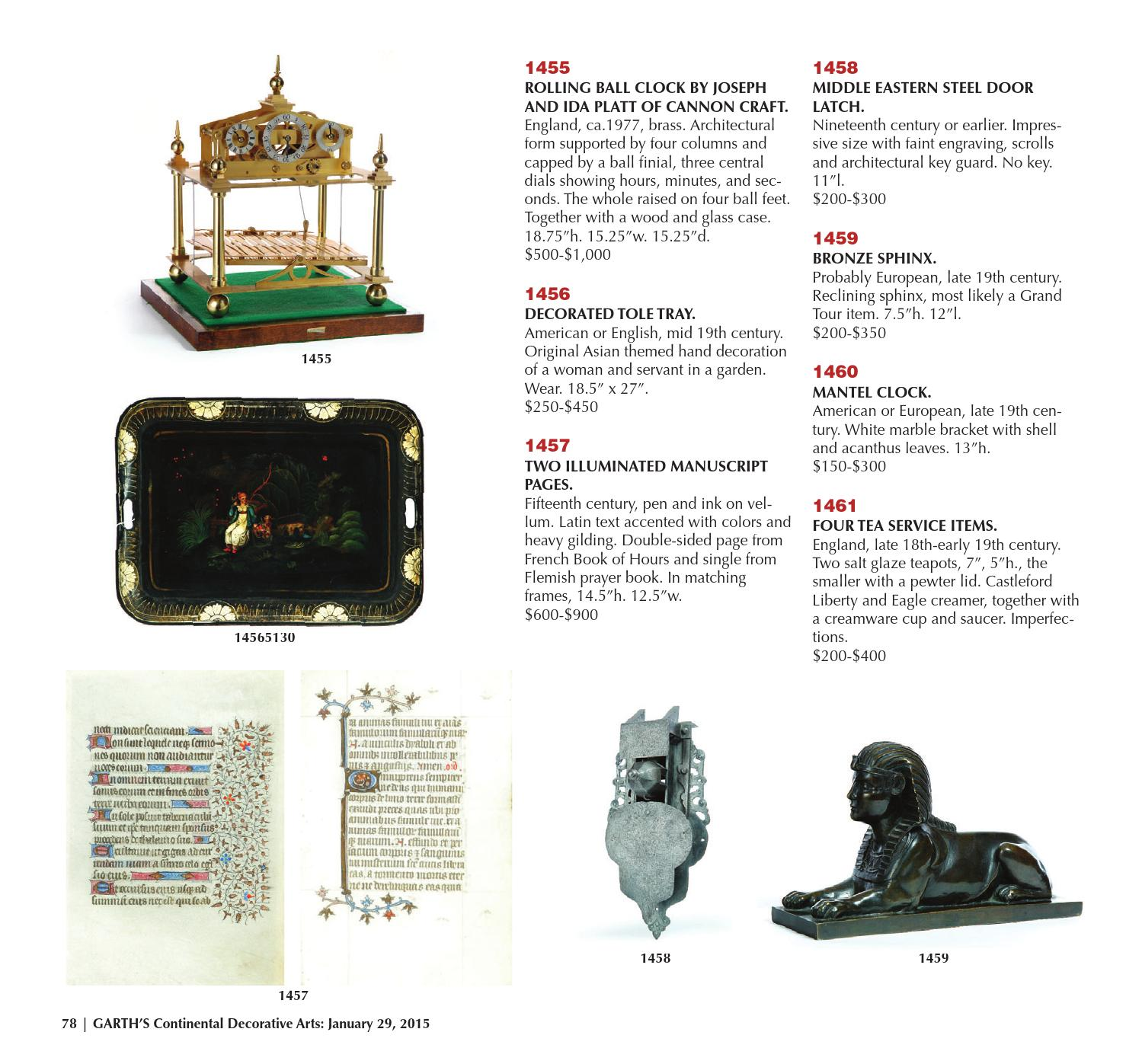 Asian Art, Continental Furniture & Decorative Arts