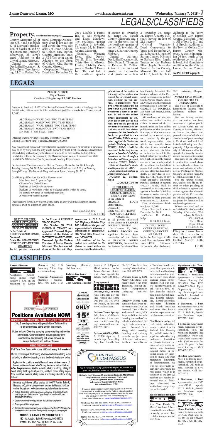 1-7-15 lamar democrat by lewis county press