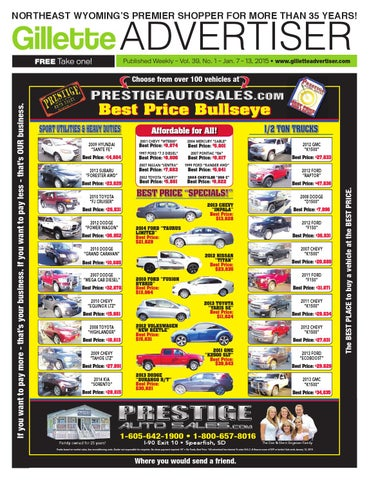 Vol  39, No  1, Jan  7-13, 2015 by The Gillette Advertiser