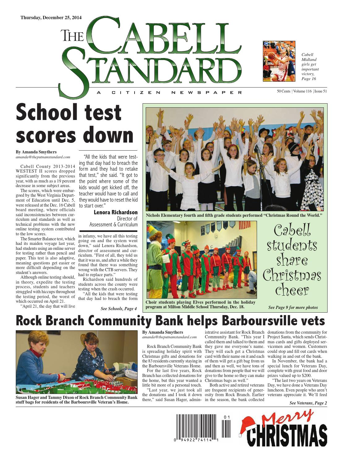The Cabell Standard, Dec. 25, 2014 by PC Newspapers - issuu