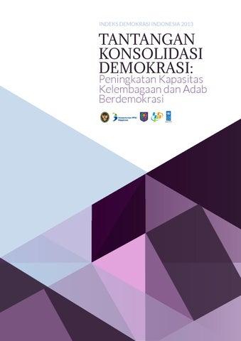 Indeks Demokrasi Indonesia 2013 By Glass Idea Issuu