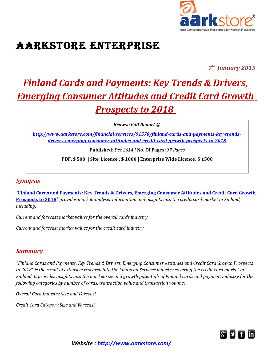 Aarkstore - Finland Cards and Payments by sangam Jain - issuu