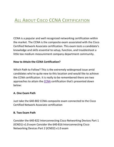 All about cisco ccna certification by Harry John - issuu