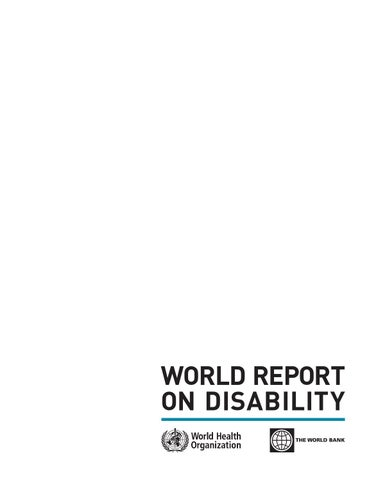 Report On Disablity By The World Health Organisation By Equass Issuu
