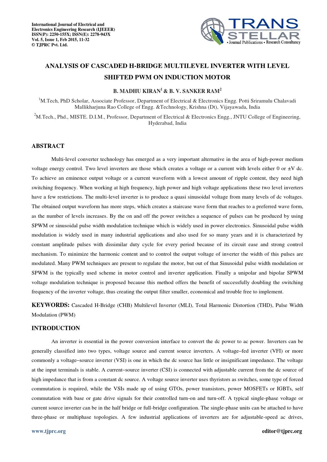 Multilevel inverter phd thesis