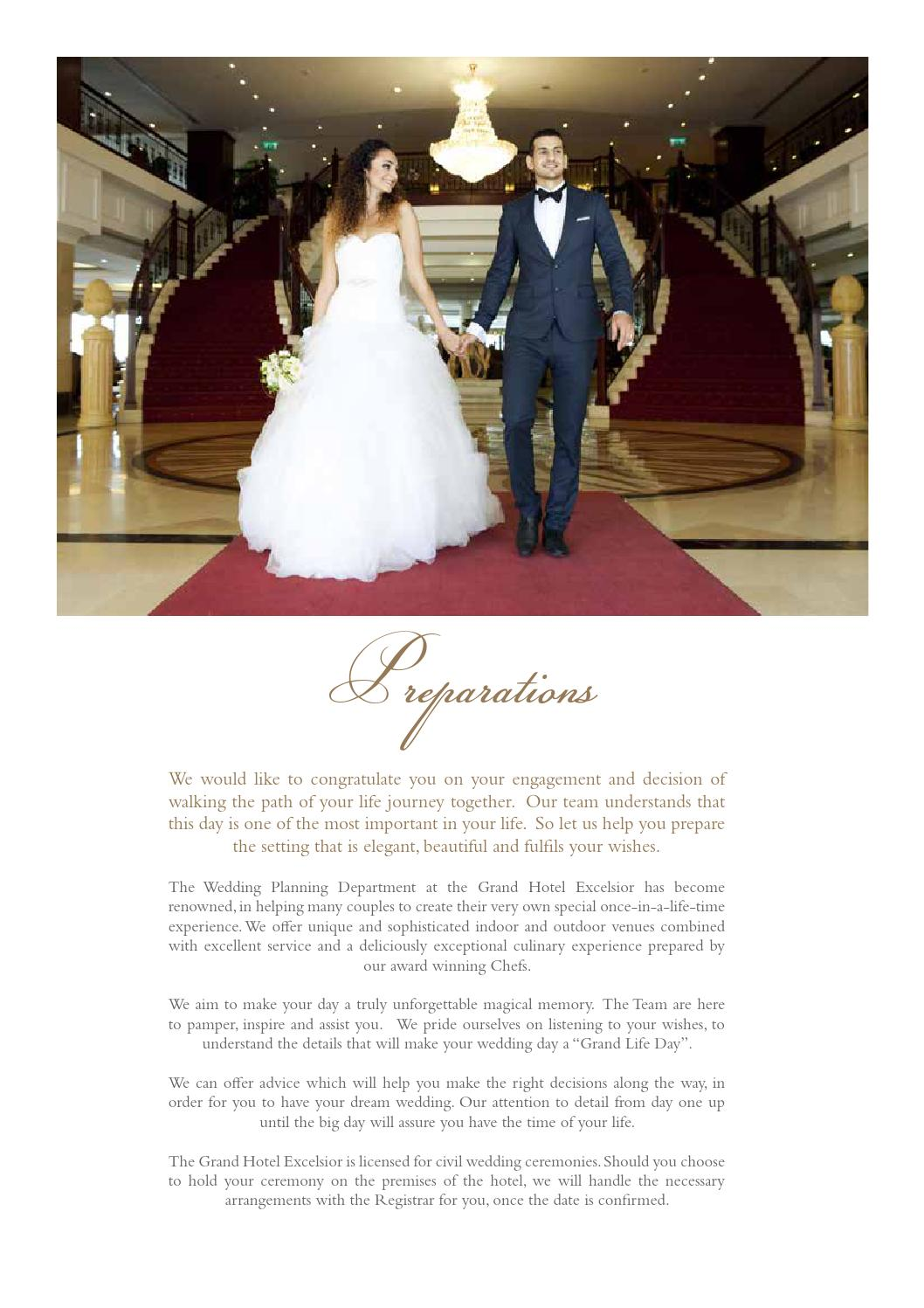Weddings By The Grand Hotel Excelsior Malta By Grand Hotel Excelsior Issuu
