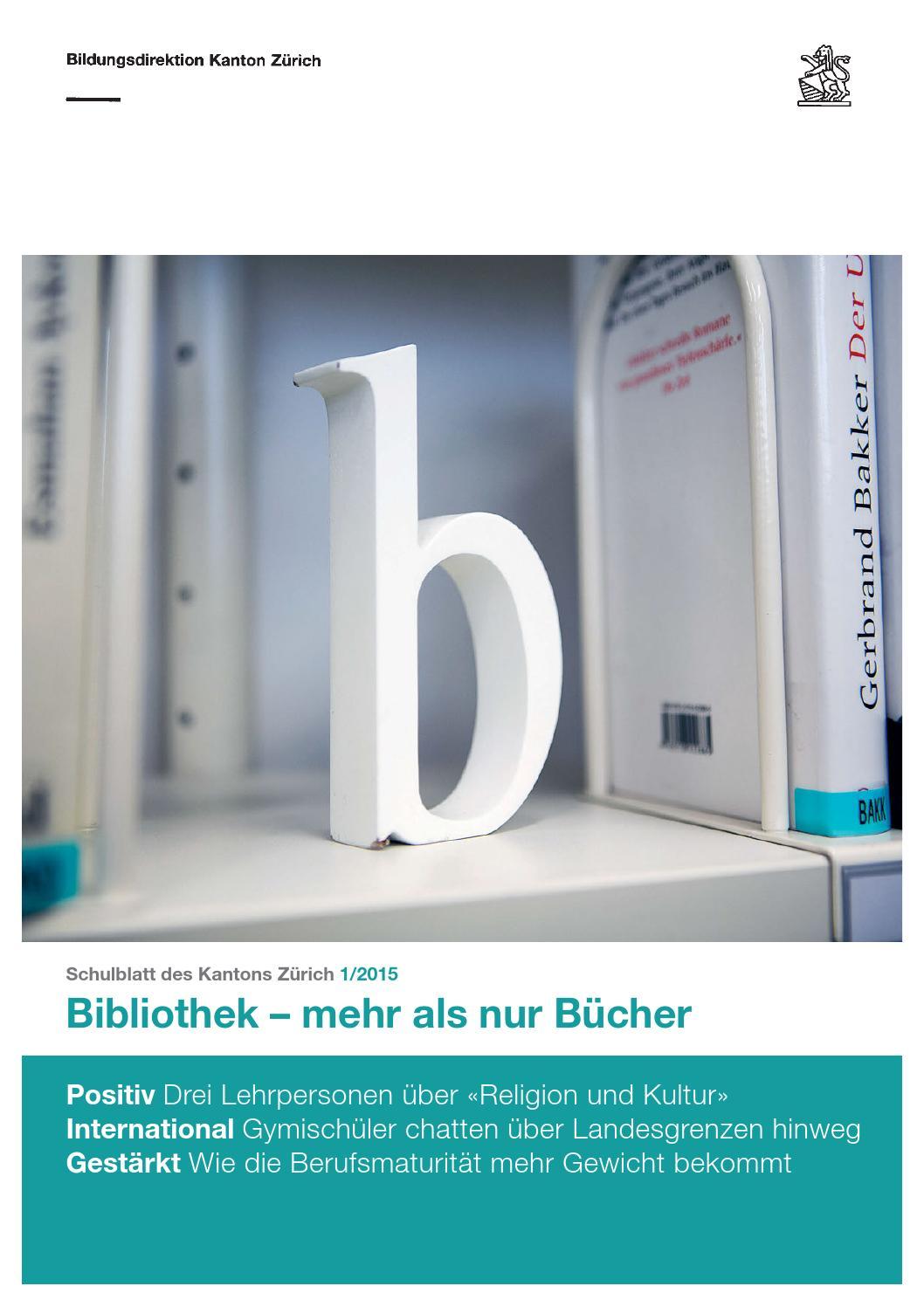 Schulblatt 1 2015 by Schulblatt Kanton Zürich - issuu