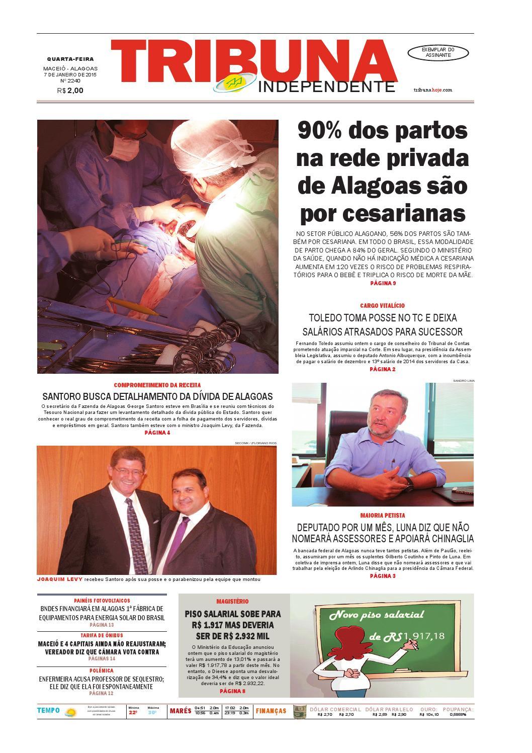 2cad1ef76 Edição número 2240 - 7 de janeiro de 2015 by Tribuna Hoje - issuu