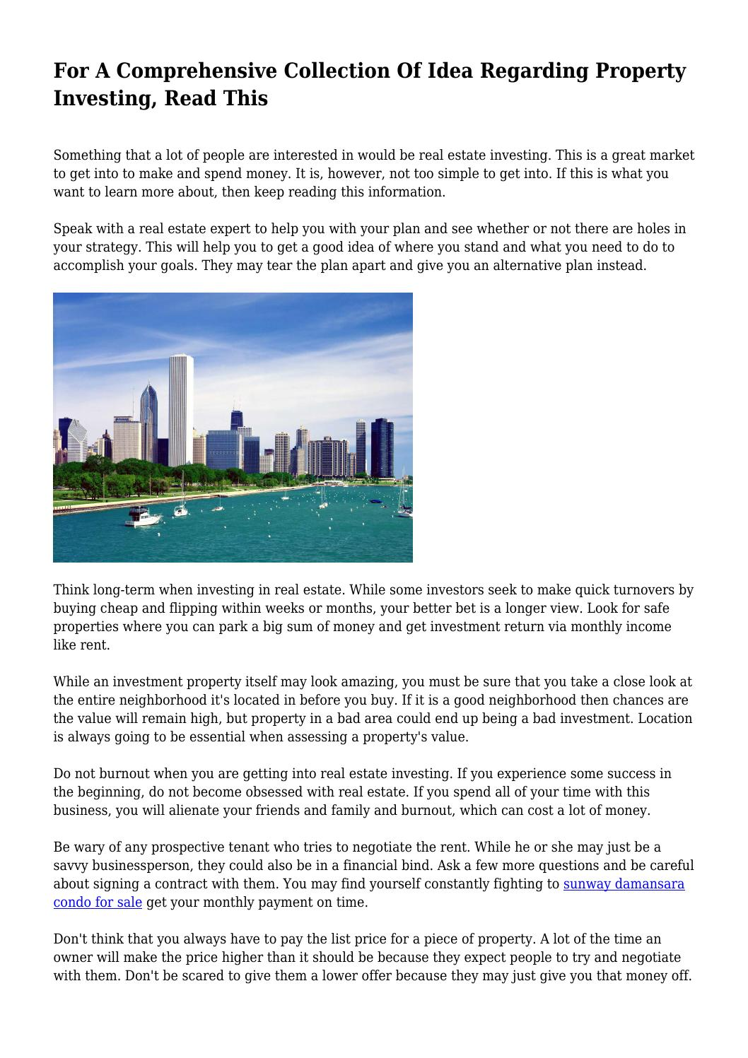 Property investment beginning of the end midaro investments inc.
