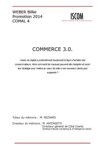 5d3f6a1be3f998 Mémoire Billie Weber - Commerce connecté   Vers une nouvelle ...