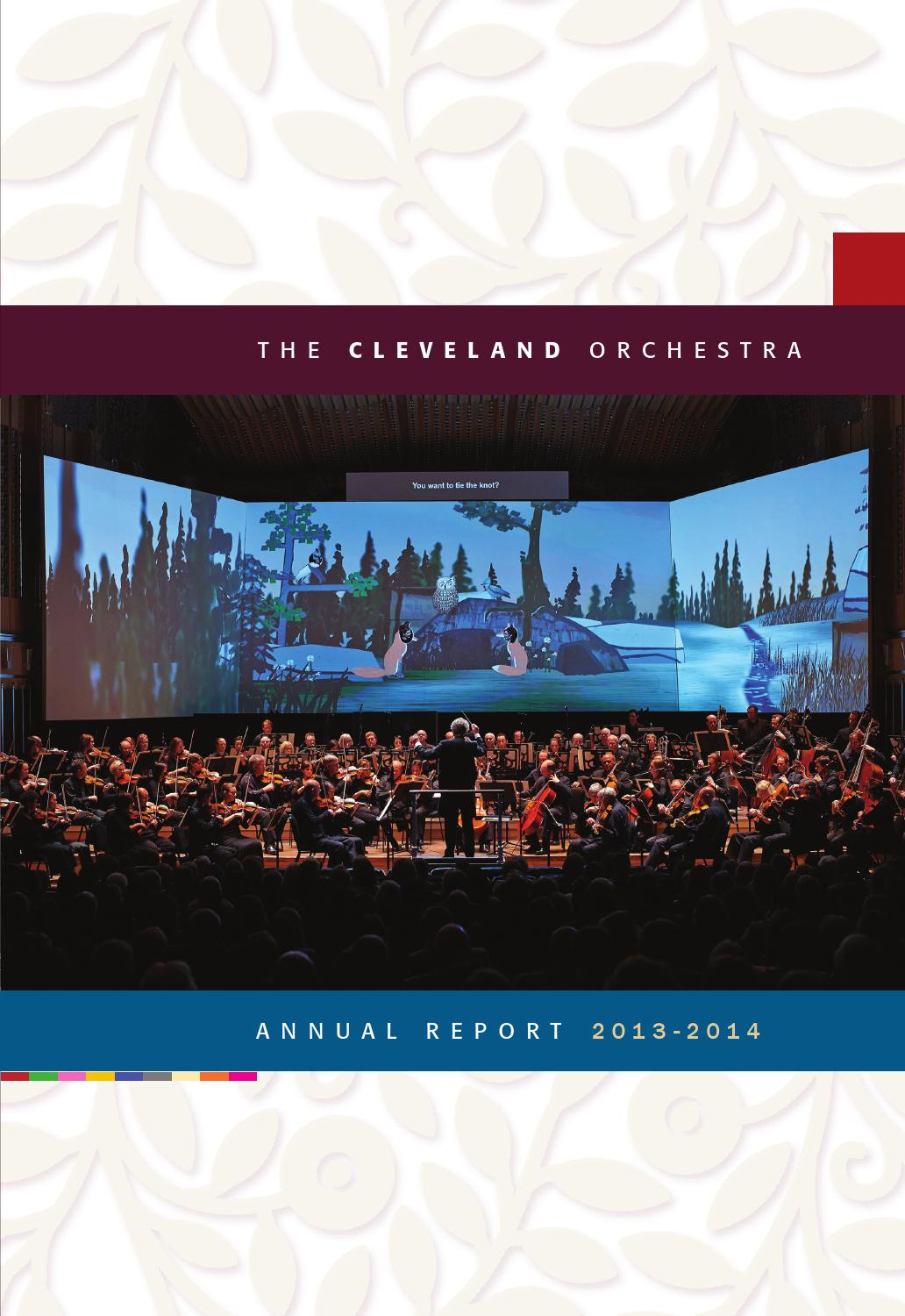 The Cleveland Orchestra — Annual Report 2013-14 by The