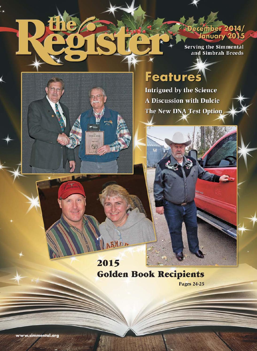The Register December 2014 January 2015 By American Simmental Daf 105 Electrical Wiring Diagram Auto Repair Manual Forum Heavy Publication Inc Issuu
