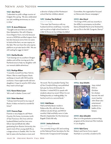 Organic Roots Fall 2014 By North Country School Issuu