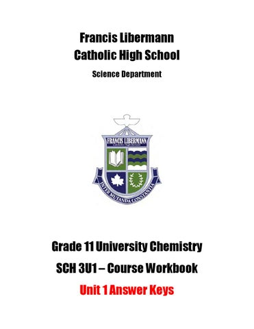 SCH 3U Workbook Answer Key - Unit 1 by Michael Papadimitriou - issuu