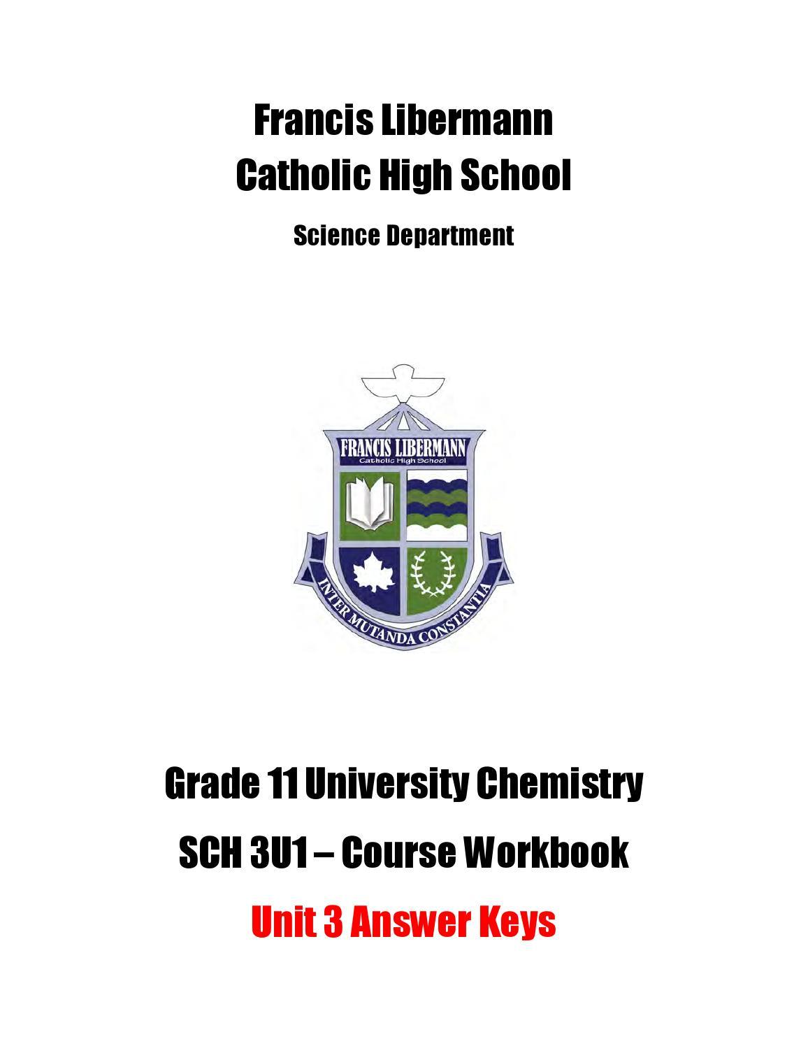 Sch 3u Workbook Answer Key Unit 3 By Michael Papadimitriou Issuu