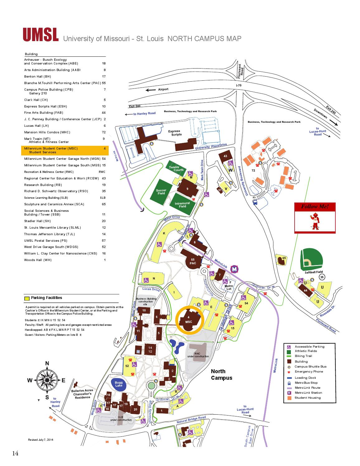 UMSL Orientation Preview Booklet 2015 by UMSL New Student ... on umass amherst campus library map, boise idaho state university map, tarleton state campus map, illinois county map,