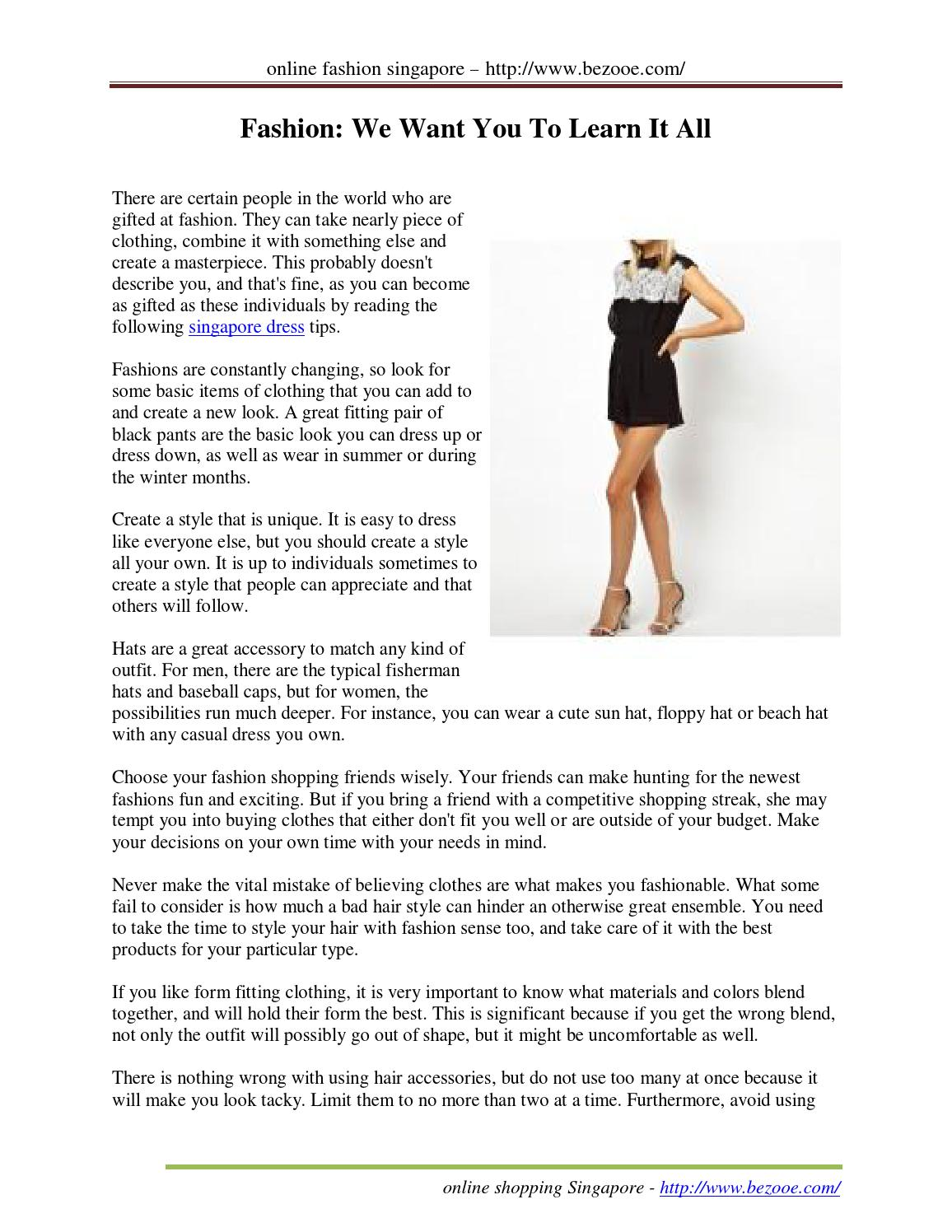 Fashion we want you to learn it all by AprilBirkhead - issuu f9f3a294a8a40