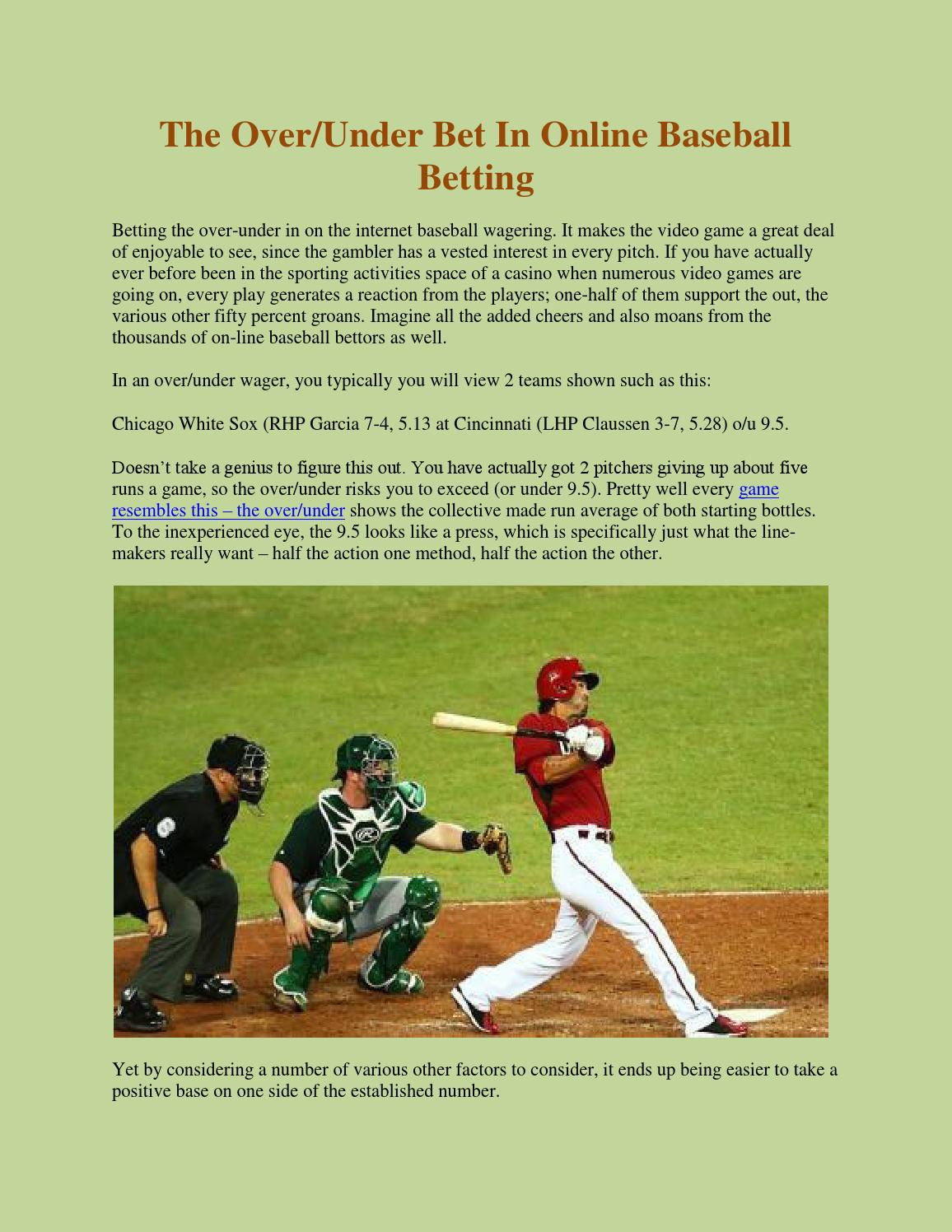 Over under betting baseball online betting superfectas