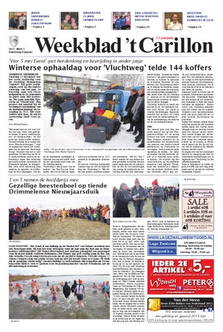b3a27988166 Weekblad 't Carillon 08-01-2015 by Uitgeverij Em de Jong - issuu