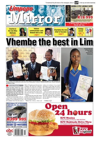 9 january 2015 limpopo mirror by zoutnet issuu